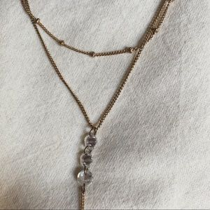 American Eagle Outfitters Jewelry - gold layered necklace w/ jewels